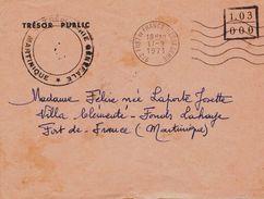 2- MARTINIQUE Enveloppe En Franchise Trésorerie Générale De 1971 - Martinica (1886-1947)