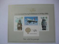 GB - 1980 - International Stamp Exhibition Cinderella - Minisheet - 1952-.... (Elizabeth II)