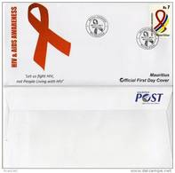 MAURITIUS - 2011 - HIV & AIDS AWARENESS -  FDC - Mauritius (1968-...)
