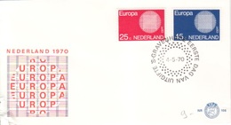 Timbres Europa Pays Bas 1970 N° 914, 915 Obl. 1° Jour 04/05/70  Sur Enveloppe FDC - FDC