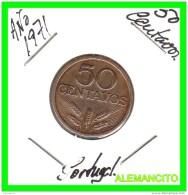 PORTUGAL  MONEDA DE 50 CENTAVOS  AÑO 1970 - Portugal