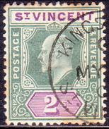 ST.VINCENT 1902 SG #83 2sh Used Wmk Crown CA CV £60 Some Toning - St.Vincent (...-1979)