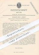 Original Patent - Hermann Delin , Berlin , 1886 , Flaschenfüllapparat | Flaschen Befüllen | Flasche , Glas , Kolben - Historische Dokumente