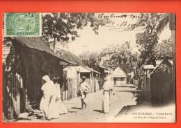 NEP-12  Madagascar Tamatave Rue De L'Amiral Pierre. TRES ANIME. Cachet Frontal 1906 - Madagascar