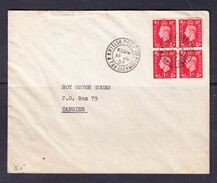 SC13-38  COVER 1937 YEAR. - Morocco Agencies / Tangier (...-1958)