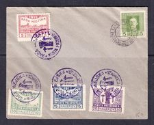 SC13-42 COVER WITH THE LOCAL STAMPS. - ....-1919 Provisional Government