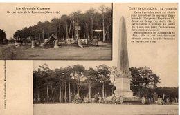 CAMP DE CHALONS - LA PYRAMIDE - LA GRANDE GUERRE - CE QUI RESTE DE LA PYRAMIDE - Camp De Châlons - Mourmelon
