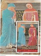 Umm Al Qiwain 1972 Dante Virgilio Divina Commedia Inferno Canto XI Papa Anastasio  Miniatura Illustrazione - Scrittori