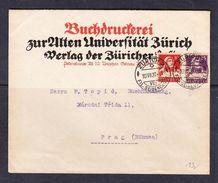 SC13-47 LETTER FROM ZURICH TO PRAHA. 1920 YEAR. - Switzerland