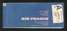 France  Airline Transport Ticket Used  Passenger Ticket 3 Scan - Transportation Tickets