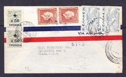 SC13-51 AVIA LETTER FROM GREECE TO PRAHA. 1938 YEAR. - Grecia