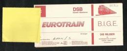 Euro Train 1976 Transport Ticket Used  Passenger Ticket 5 Scan - Transportation Tickets