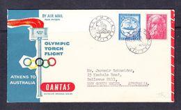 SC13-56 COVER FROM GREECE TO AUSTRALIA. - Verano 1956: Melbourne