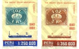 Ref. 188342 * MNH * - PERU. 1990. 6 CENTENARIO DE LA PACIFIC STEAM NAVIGATION COMPANY - Peru