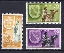 SAHARA 1956  DIA DEL SELLO   EDIFIL Nº 130/132  NUEVOS CON   CHARNELA . CECI 2 Nº 109 - Sahara Español