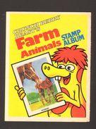 1982 Cereal Premium Crunch Berry Beasts Farm Animal Stamp Album Unused Quaker - Advertising
