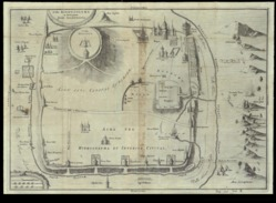 Jerusalem Map 1686. - Gouaches