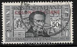 Italian Colonies General, Scott # 6 Used Italy Dante Overprinted, 1932 - Italy