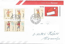 """Portugal 2000 Entier Postal Type PAP Carta Inteira Complementada Com 5 Selos """"Profissões E Personagens"""" - Cartes-maximum (CM)"""