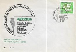 Portugal 1992 III Mostra Filatélica Dos 70 Anos Do Jornal SPORTING (30-5-92) - Maximum Cards & Covers