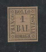 ITALIE-ROMAGNE-1859.Y/Tn°2-1b.gris-brun.NO.gomme Orig.sign.expert Leipzig.Peluré,émincé.A 1/4 Cote Y/T1985:14.75€=3.69€ - Romagna