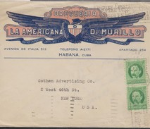O) 1917 CUBA-CARIBE, SPANISH ANTILLES, JOSE MARTI - 1 C. GREEN, COVER TO UNITED STATES - Lettres & Documents