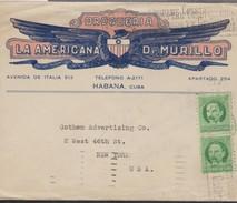 O) 1917 CUBA-CARIBE, SPANISH ANTILLES, JOSE MARTI - 1 C. GREEN, COVER TO UNITED STATES - Cuba