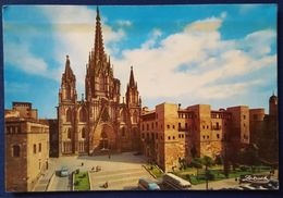 BARCELONA - Catedral Y Murallas Romanas - Timbro M/n IRPINIA Grimaldi Lines Vg - Barcelona