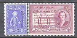 Ruanda-Urundi  B 21-2    *     MOZART  MUSIC - Ruanda-Urundi