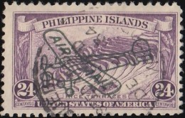 PHILIPPINES - Scott #C34 Rice Terraces 'Overprinted' / Used  Stamp - Philippines
