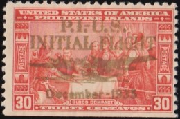 PHILIPPINES - Scott #C53 Blood Compact 1565 'Overprinted' / Used  Stamp - Philippines