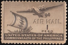 PHILIPPINES - Scott #C62 Moro Vinta And Clipper / Mint NG Stamp - Philippines