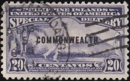 PHILIPPINES - Scott #E7 Special Delivery Messenger 'Overprinted' / Used Stamp - Philippines