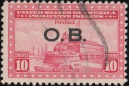 PHILIPPINES - Scott #O19 Official 'Overprinted' / Used Stamp - Philippines