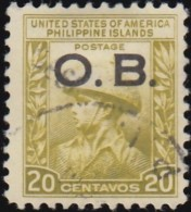 PHILIPPINES - Scott #O34 Official 'Overprinted' (*) / Used Stamp - Philippines