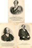 HOMMES CELEBRES(5 CARTES) MUSICIEN - Histoire