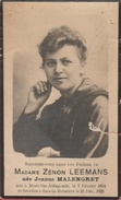Faire-part Mortuaire -Jeanne Malengret, Née En 1804 Et Décédée à Sars-la-Buissière En 1928 ( Voir Verso ) - Décès