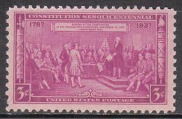 UNITED STATES    SCOTT NO. 798    MINT HINGED   YEAR  1937 - Nuevos