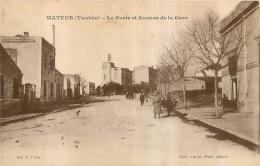 MATEUR LA POSTE ET AVENUE DE LA GARE - Tunisie