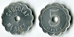 N93-0432 - Monnaie De Nécessité - Noisiel - Chocolat Menier - 5 Centimes - Type 2 - Notgeld
