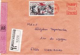 Env Reco Avec AR Affr Y&T PA 48 + MOG Obl WISSEMBOURG Du 8.1.1985 Adressée à Strasbourg - Alsace Lorraine
