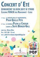 Berger Gall Concert D'été Des Groupes Pour Quelle Fête Et Plein Le Choeur, Caserne Fonck Liège 18/6/2017 - Publicités