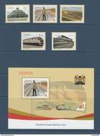 "2017 Kenya NEW ISSUE! Standard Gauge Railway ""SGR"" - Built By China May 31 Complete Set Of 5 And Souvenir Sheet MNH - Kenya (1963-...)"