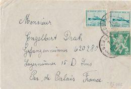 WW2 - Lettre De BELGIQUE Vers Un Prisonnier De Guerre En FRANCE - 39-45 - Storia Postale