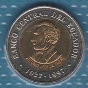 ECUADOR 100 SUCRES 1997 KM# 101  Bi-métallique Central Bank - Ecuador