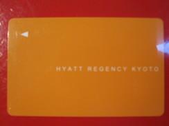 MISC HOTEL MOTEL INN PENSION MOTOR HOUSE RESIDENCE KEY CARD HYATT REGENCY KYOTO JAPAN - Hotel Labels