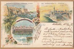Malta  VALLETTA Chromo Vignette Post Used 1898  Ma184 - Malta