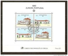 Portugal CEPT 1990 Yvertn° Bloc 72 (°) Used  Cote 9,00 Euro - Blocks & Sheetlets