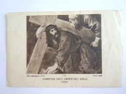 Priesterwijding Oud-Heverlee 1 Ste Mis Eksel 1936 Jan Geuens Christus Valt Onder Het Kruis Art Catholique Paris - Devotion Images