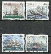 SWEDEN 1999 - SAILING SHIPS - CPL. SET - USED OBLITERE GESTEMPELT USADO - Bateaux